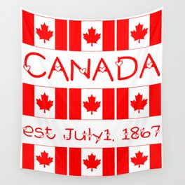 Canada Day Maple Leaf Pattern Canadian Flag Wall Tapestry