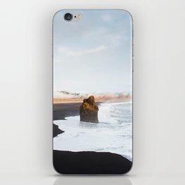 Black Sand Beach, South Iceland iPhone Skin