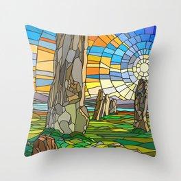 Calanais Sunset Throw Pillow