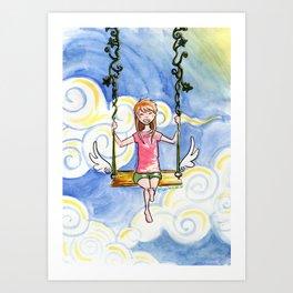 The Sky Swing Art Print