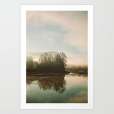 Calm Lake Art Print