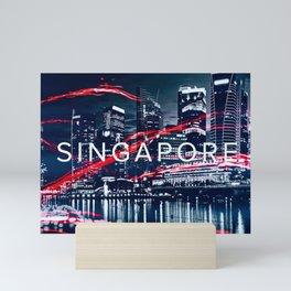 Singapore at night. Mini Art Print