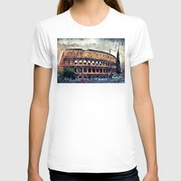 rome T-shirts featuring Colosseum Rome by jbjart
