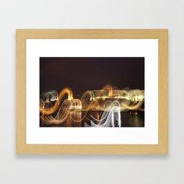 Prague in Lights Framed Art Print