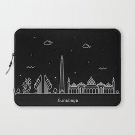 Surabaya Minimal Nightscape / Skyline Drawing Laptop Sleeve