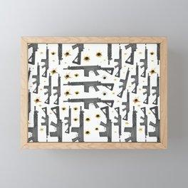 FAL GUN LEGGINGS THROW PILLOW Framed Mini Art Print