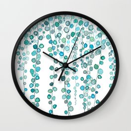 String Of Pearls plants watercolor 2 Wall Clock
