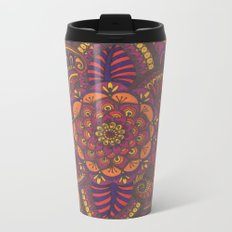 Henna Style (fall colors) Metal Travel Mug