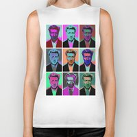 popart Biker Tanks featuring Different popart by Renars