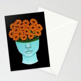 flowerhead flowerpot Stationery Cards