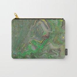 fluid art green Carry-All Pouch