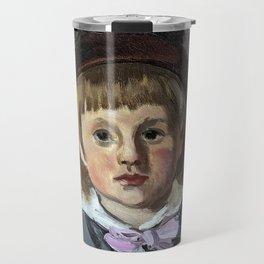Portrait de son fils Jean en bonnet à pompon, Claude Monet Travel Mug