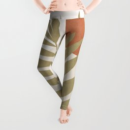 Tropical Leaf- Abstract Art 9 Leggings