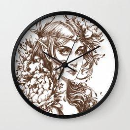 Flower Elf Wall Clock