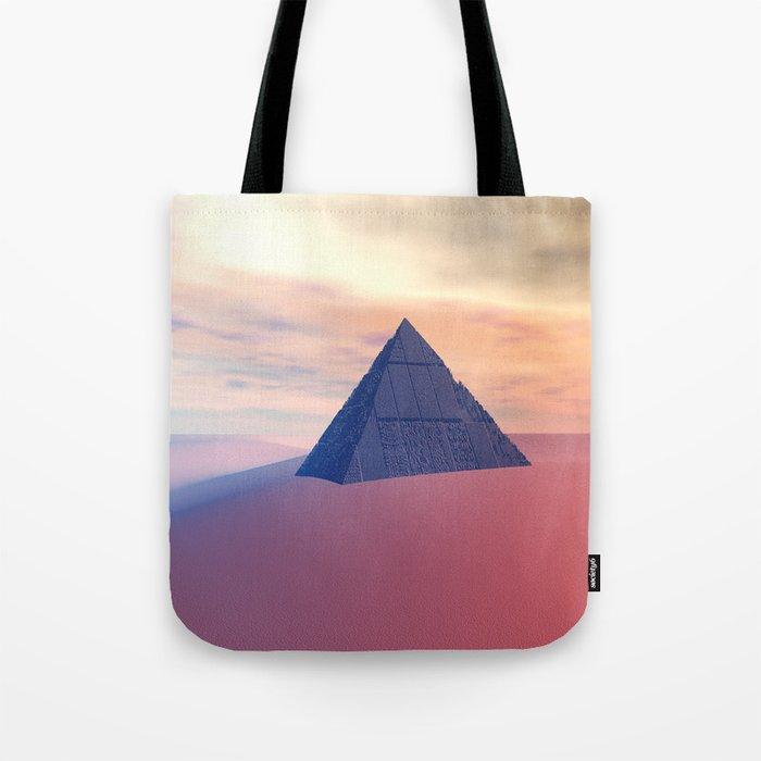 Ancient Pyramid In Desert Tote Bag