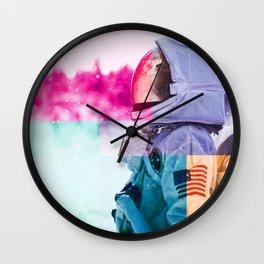 Cosmonaut double exposure 2 Wall Clock
