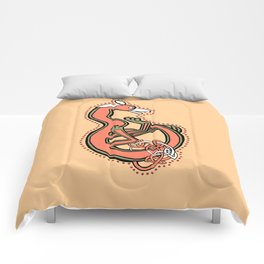 Celtic Fox Letter B Comforters