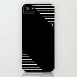 Modern Black and White Geometrical Patterns iPhone Case