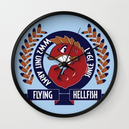 Flying Hellfish ARMY Wall Clock