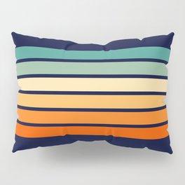 Marynda - Classic Colorful 70s Vintage Style Retro Summer Stripes Pillow Sham