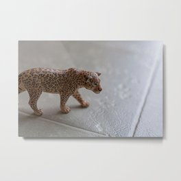 Walking Leopard Metal Print