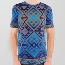 The Lodge (Blue) All Over Graphic Tee