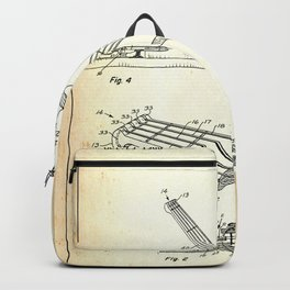 Guitar Patent - old paper Backpack