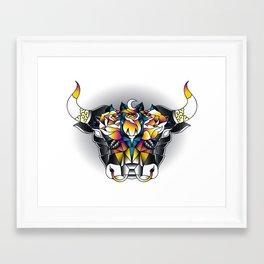 Taurus - Second of the Zodiac Framed Art Print