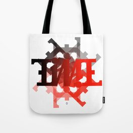 "Ambigram ""TIME"" spiral Tote Bag"