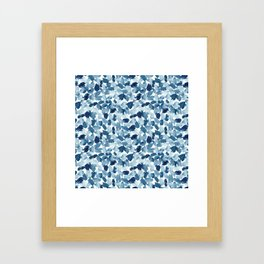 Blue Abstract Watercolor Framed Art Print