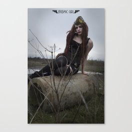 Alone in the Wasteland Pin-up 1 Canvas Print