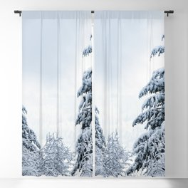 Winter Woods III - Snow Capped Forest Adventure Nature Photography Blackout Curtain
