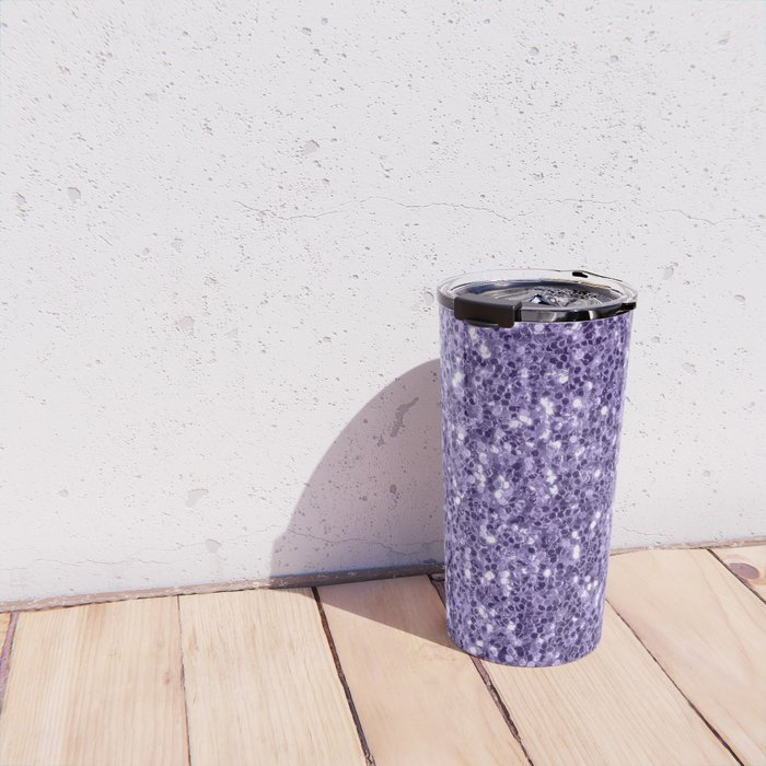 Ultra violet purple glitter sparkles Travel Mug