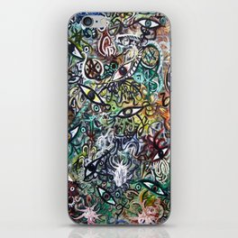Abstract Psychedelic Geometric Eyes Painting iPhone Skin