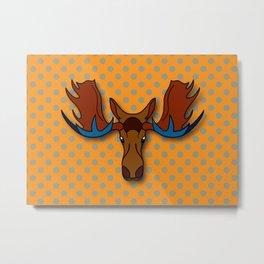 Moose pop-art Metal Print