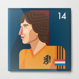 Johan Cruyff, The Godfather of Modern Football Metal Print