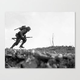 Battle Of Okinawa Painting Canvas Print