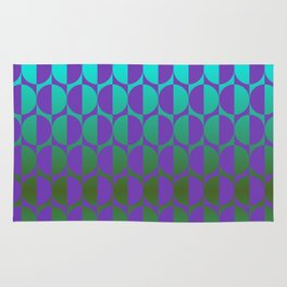 1974, violet and green Rug