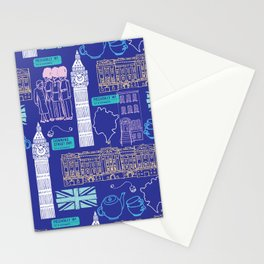 Queen and Country - Blue Stationery Cards