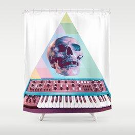 Electro Skull Synthesizer Shower Curtain