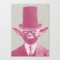 yoda Canvas Prints featuring Yoda by Les petites illustrations