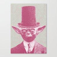 yoda Canvas Prints featuring Yoda by NJ-Illustrations