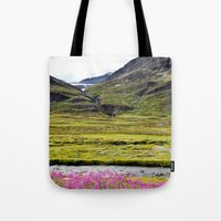 sweden Tote Bags featuring SWEDEN PINK by Hail Of Whales