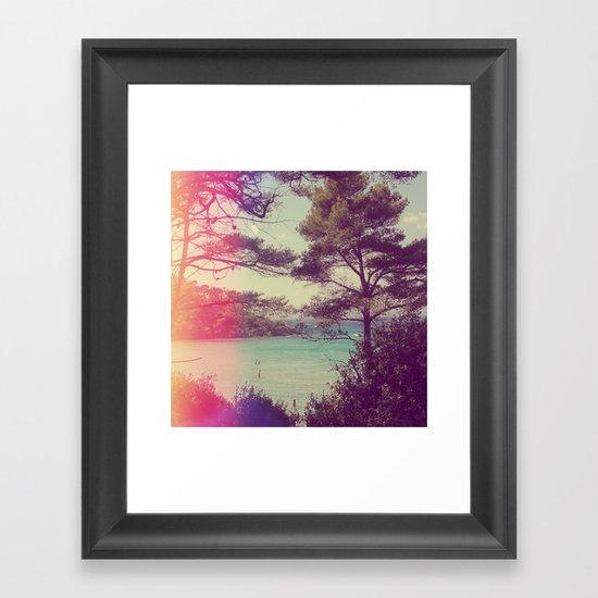 French Beach Framed Art Print