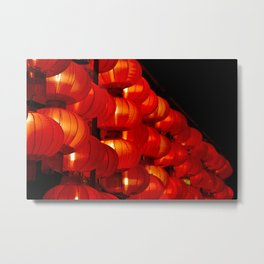 Vibrant red Chinese lanterns Metal Print