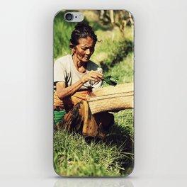 Rice woman iPhone Skin