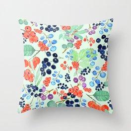 joyful berries Throw Pillow