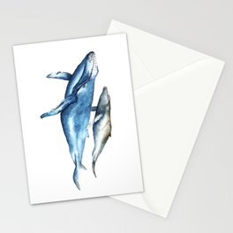 Humpback Whales Mother and Calf  Stationery Cards