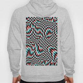 TEZETA (warped 3D geometric pattern) Hoody