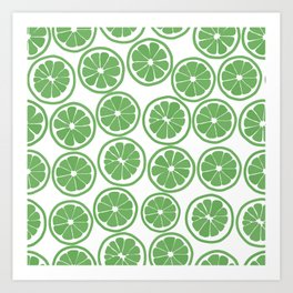 Citrus Lime Art Print
